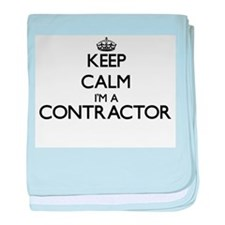 Keep calm I'm a Contractor baby blanket