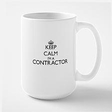 Keep calm I'm a Contractor Mugs