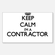 Keep calm I'm a Contractor Decal