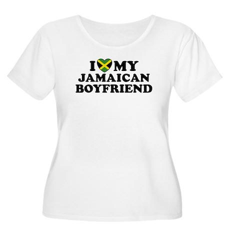 I Love My Jamaican Boyfriend Women's Plus Size Sco