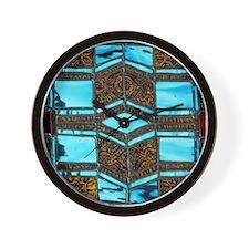 Aqua & Umber Wall Clock