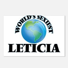 World's Sexiest Leticia Postcards (Package of 8)