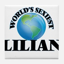 World's Sexiest Lilian Tile Coaster