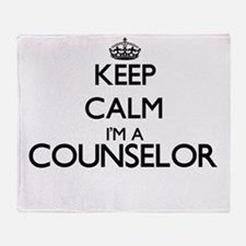 Keep calm I'm a Counselor Throw Blanket