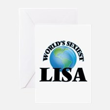 World's Sexiest Lisa Greeting Cards