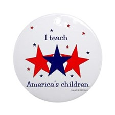 """Teach America's Children"" Ornament (Round)"