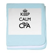 Keep calm I'm a Cpa baby blanket