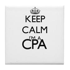 Keep calm I'm a Cpa Tile Coaster
