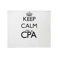 Keep calm I'm a Cpa Throw Blanket