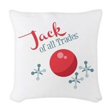 Jack Of All Trades Woven Throw Pillow