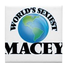 World's Sexiest Macey Tile Coaster