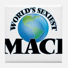 World's Sexiest Maci Tile Coaster