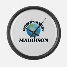 World's Sexiest Maddison Large Wall Clock