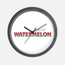 Love Of Watermelon Wall Clock