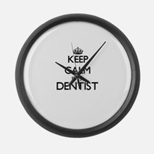 Keep calm I'm a Dentist Large Wall Clock