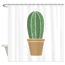 Potted Cactus Shower Curtain