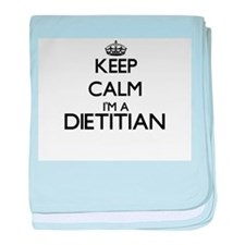 Keep calm I'm a Dietitian baby blanket
