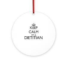 Keep calm I'm a Dietitian Ornament (Round)