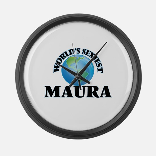 World's Sexiest Maura Large Wall Clock