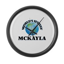 World's Sexiest Mckayla Large Wall Clock