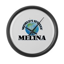 World's Sexiest Melina Large Wall Clock