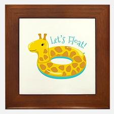 Lets Float Framed Tile