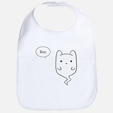 Boo the Ghost Cat Bib