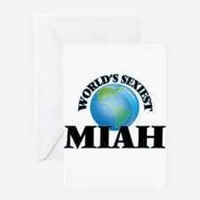 World's Sexiest Miah Greeting Cards