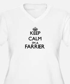 Keep calm I'm a Farrier Plus Size T-Shirt