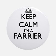 Keep calm I'm a Farrier Ornament (Round)