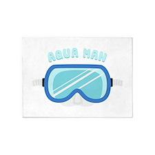 Aqua Man 5'x7'Area Rug