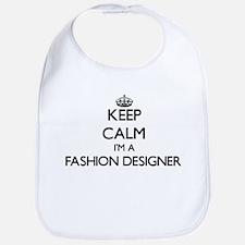 Keep calm I'm a Fashion Designer Bib