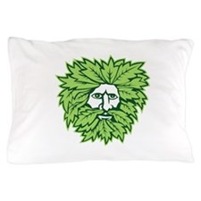 Green Man Front Isolated Pillow Case