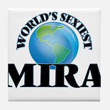 World's Sexiest Mira Tile Coaster