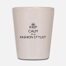 Keep calm I'm a Fashion Stylist Shot Glass