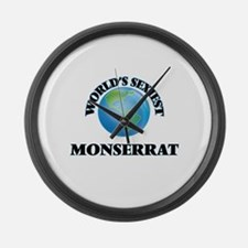 World's Sexiest Monserrat Large Wall Clock