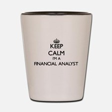 Keep calm I'm a Financial Analyst Shot Glass