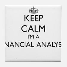 Keep calm I'm a Financial Analyst Tile Coaster