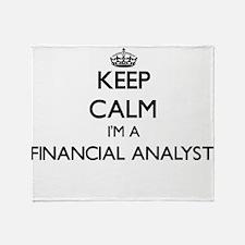 Keep calm I'm a Financial Analyst Throw Blanket