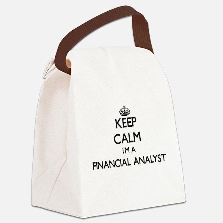 Keep calm I'm a Financial Analyst Canvas Lunch Bag