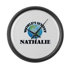 World's Sexiest Nathalie Large Wall Clock