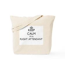 Keep calm I'm a Flight Attendant Tote Bag