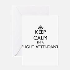 Keep calm I'm a Flight Attendant Greeting Cards