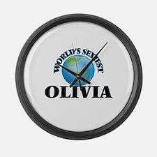 World's Sexiest Olivia Large Wall Clock