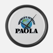 World's Sexiest Paola Large Wall Clock