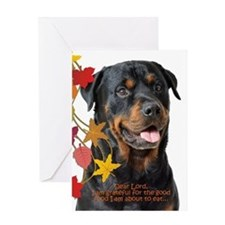 Funny Rottie Thanksgiving Greeting Cards