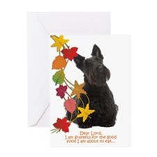 Funny Scottie Thanksgiving Greeting Cards