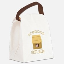 Made From Straw Canvas Lunch Bag