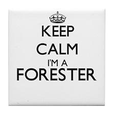 Keep calm I'm a Forester Tile Coaster