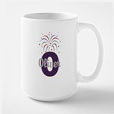 4th of July Fireworks letter O Mugs